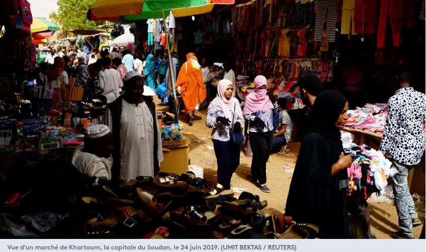 Vue d'un marché de Khartoum