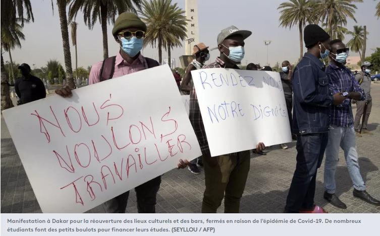 Manifestation à Dakar pour la réouverture des lieux culturels et des bars
